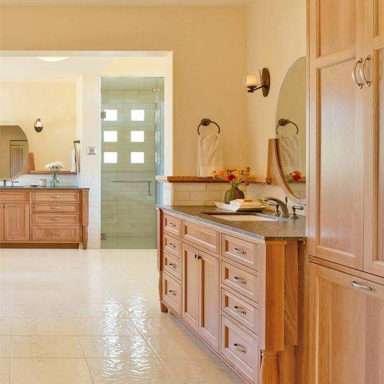 Modern Rustic Master Bathroom Designed by HartmanBaldwin