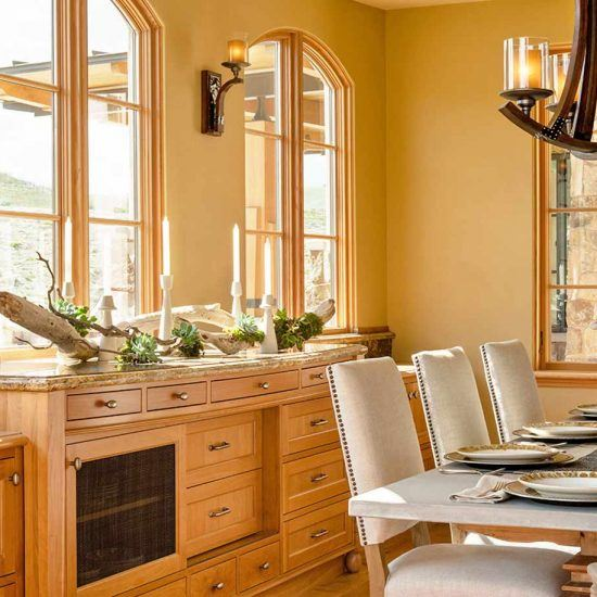 Contemporary Ranch Style Dining Room Designed by HartmanBaldwin