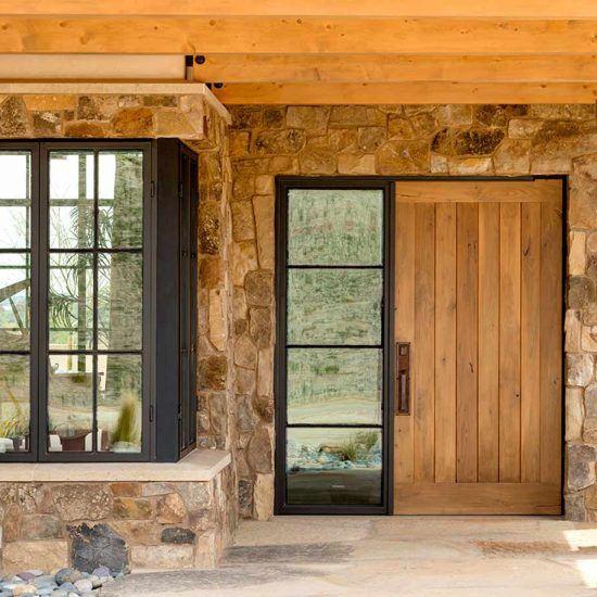 Modern Contemporary Ranch Entryway Designed by HartmanBaldwin
