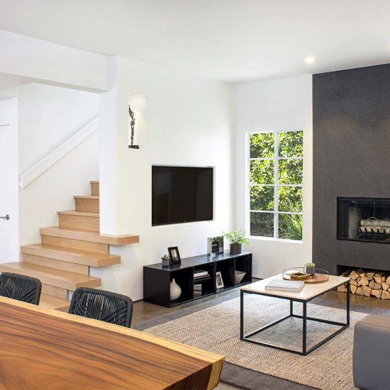 Modern Minimalist Living Room Design by HartmanBaldwin