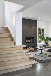 Modern Minimalist Stair and Living Room Design by HartmanBaldwin