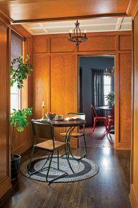 Spanish Style Custom Home Breakfast Nook Designed by HartmanBaldwin