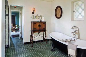 Custom Spanish Bathroom with Clawfoot Tub Designed by HartmanBaldwin