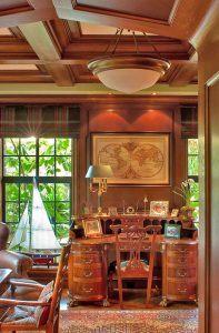 Traditional Style Library Wood Paneling by HartmanBaldwin