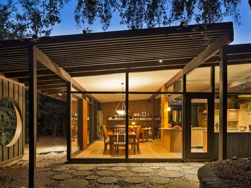 Mid-Century Modern Home with Post and Beam Architecture by HartmanBaldwin