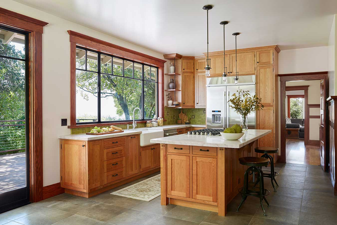 Mira Monte Craftsman Kitchen by HartmanBaldwin