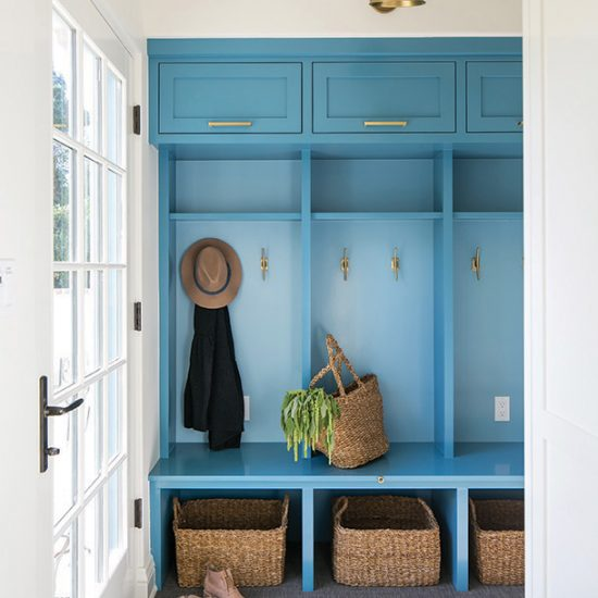 Hillside French Normandy Custom Mudroom Renovation Design Rebuild by HartmanBaldwin