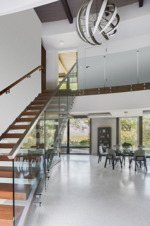 HartmanBaldwin Mid-Century Modern Entry Staircase After