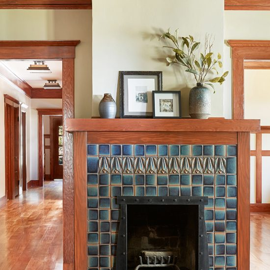Craftsman Style Home Renovation of Fireplace by HartmanBaldwin